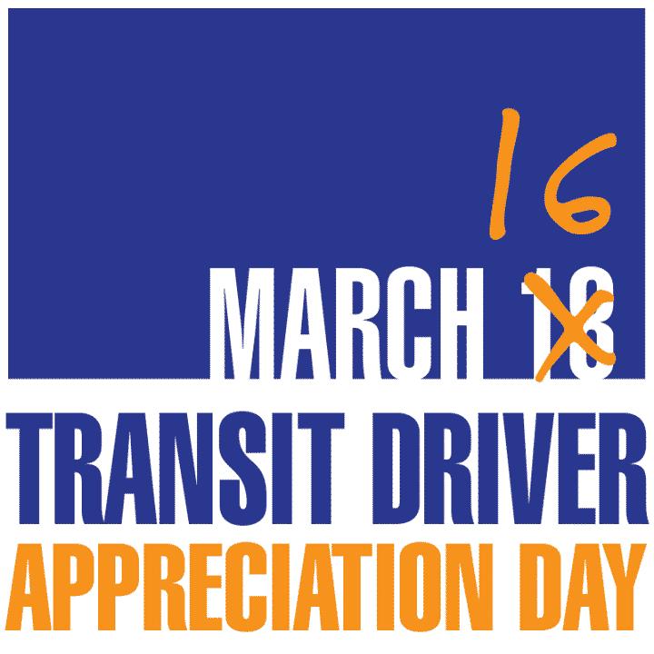 Happy Transit Driver Appreciation Day!