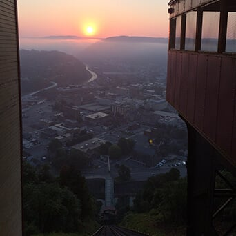 Johnstown Inclined Plane and City at Night